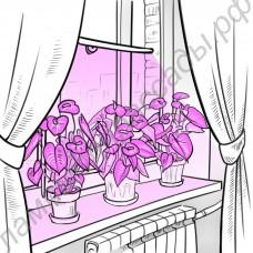 """Светильник на присоске для растений (рассады, цветов и др.) на подоконнике """"Шедар"""""""