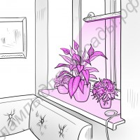 """Светильник на удобных присосках для растений на подоконнике """"Майя"""""""